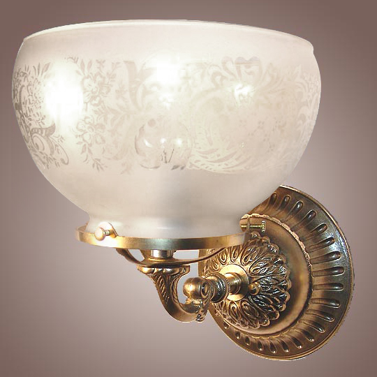 Model NS1 Victorian Wall Sconce. Perfect for bathroom lighting, vanity mirror light, hall lighting